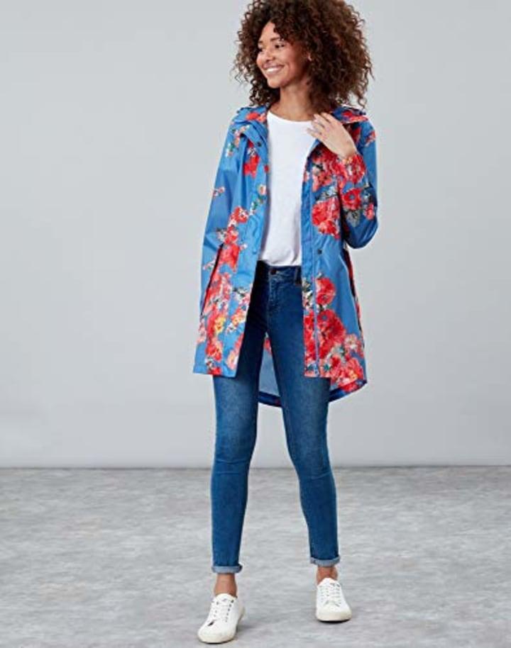 e7990c8911 Joules Women's Golightly Printed Packable Waterproof Rain Coat, $44, Amazon