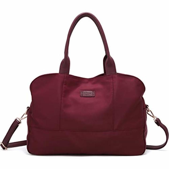 53ae08ab2ce ZOCAI Handbag for Women Tote Bag Casual Weekender Bag Overnight Carry On  Shoulder Bag for Travel Work Gym (Burgundy)