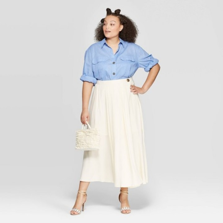 This button-down shirt is a plus-size fashion essential
