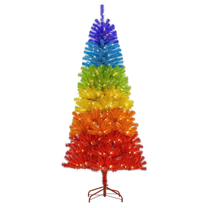 Rainbow Christmas Trees: Rainbow Christmas Trees: The 2019 Holiday Trend