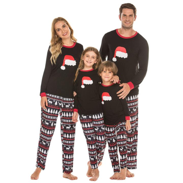 Couples Christmas Pajamas Set RQWEIN Family Matching Pajamas Set Matching Christmas pjs for Family