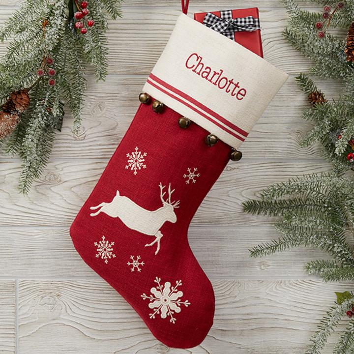Personalised Merry Christmas Blue Fair Isle Design Christmas Stocking 27 x 14 Gift Present