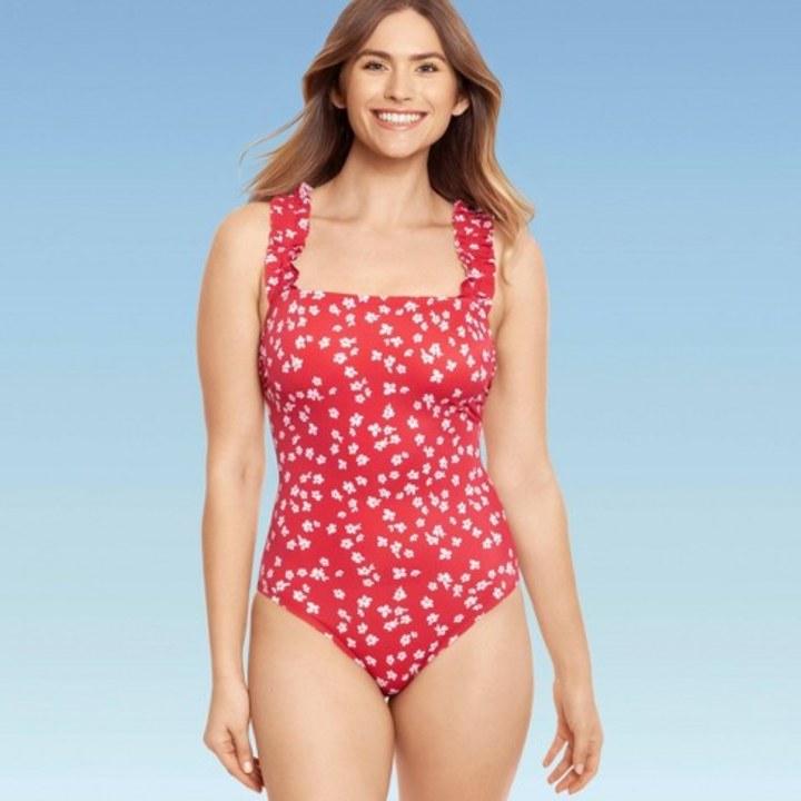 Short ruffle swimsuit MORE COLORS