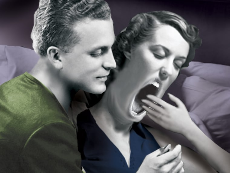 """Yawning at the moment of impending sex """"is not at all rare,"""" says"""