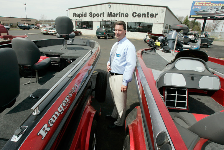 Jake Jacobson, general manager of Rapid Marine Group in Minnesota, said he's optimistic because of all the people who've dropped in on his showrooms this spring.