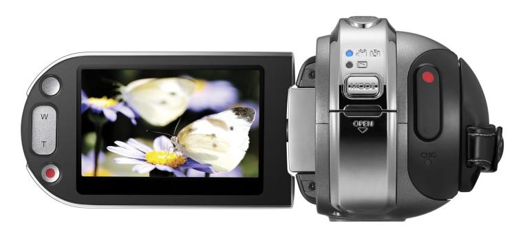 Image: Samsung HMX H106 high-definition camcorder