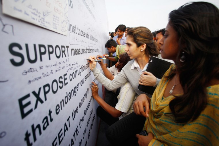 Image: Indians vent their feelings on the recent terror attacks