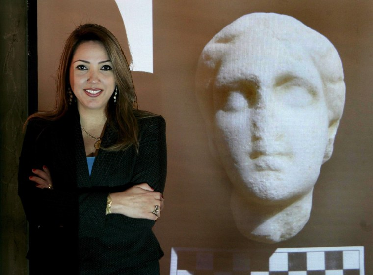 Image: Kathleen Martinez, director of a Dominican-Egyptian archeological mission