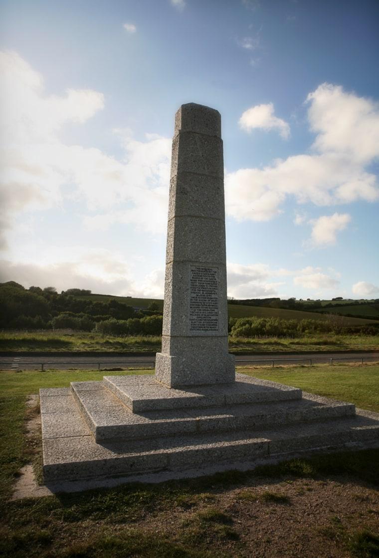 Image: Obelisk at Slapton Sands, England