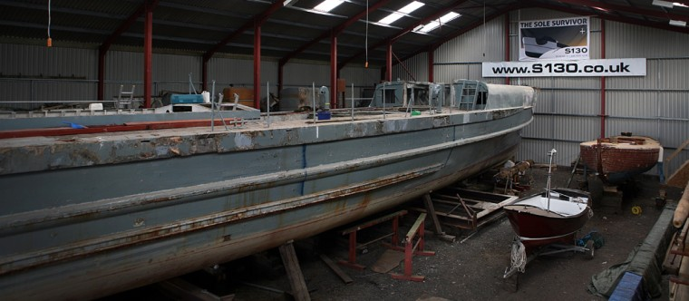 Image: German E-boat being restored at Millbrook, England