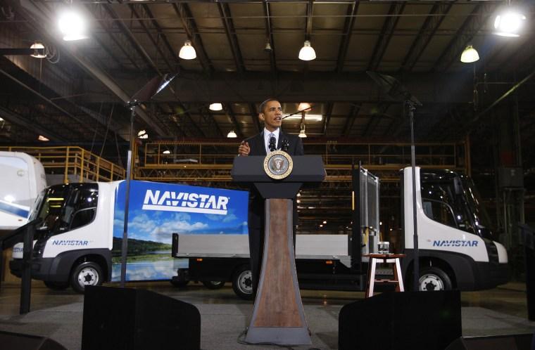 Image: President Obama speaks on the economy