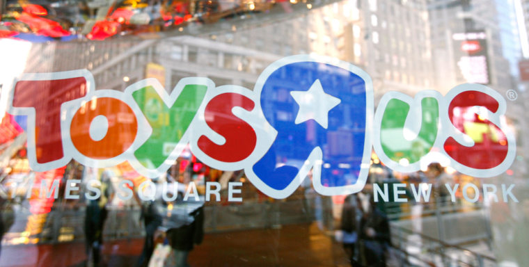 """Image: The entrance to the Toys """"R"""" Us Times Square store is seen in New York"""