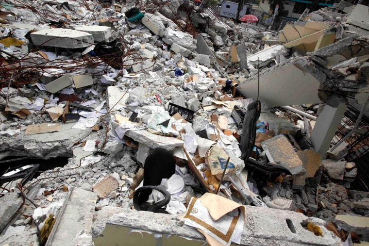 Image: Collapsed building of Haiti's Provisional Electoral Council