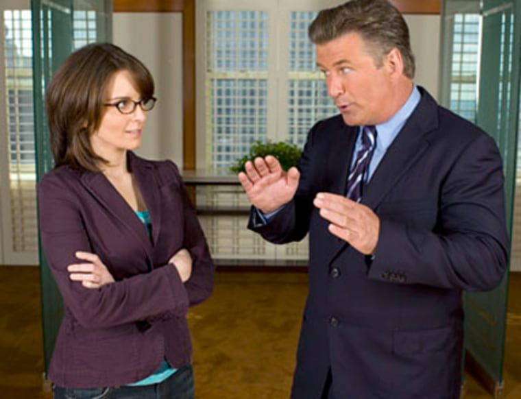 """Characters played by Tina Fey and Alec Baldwin share intimate details of their lives at the office on""""30 Rock,"""" In real life, that can lead to problems."""
