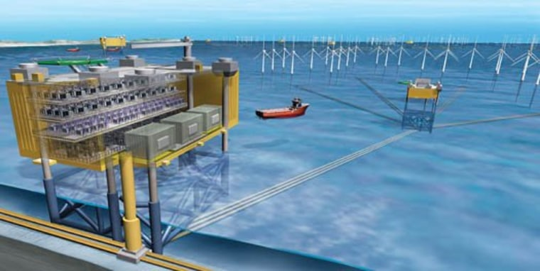 The Atlantic Wind Connection would link wind farms over hundreds of miles using undersea cables and voltage conversion stations.