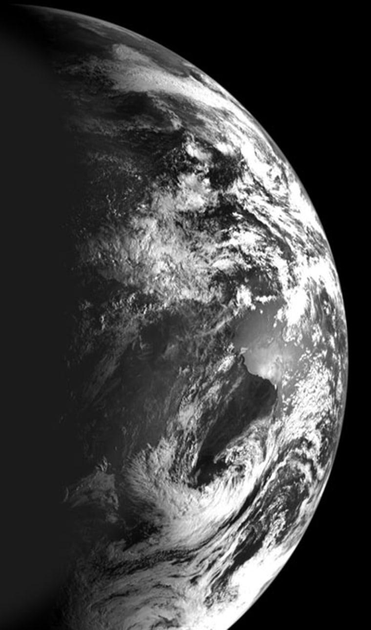 Image: Earth from Chandrayaan-1
