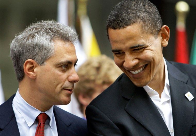 Image: Barack Obama, Rahm Emanuel