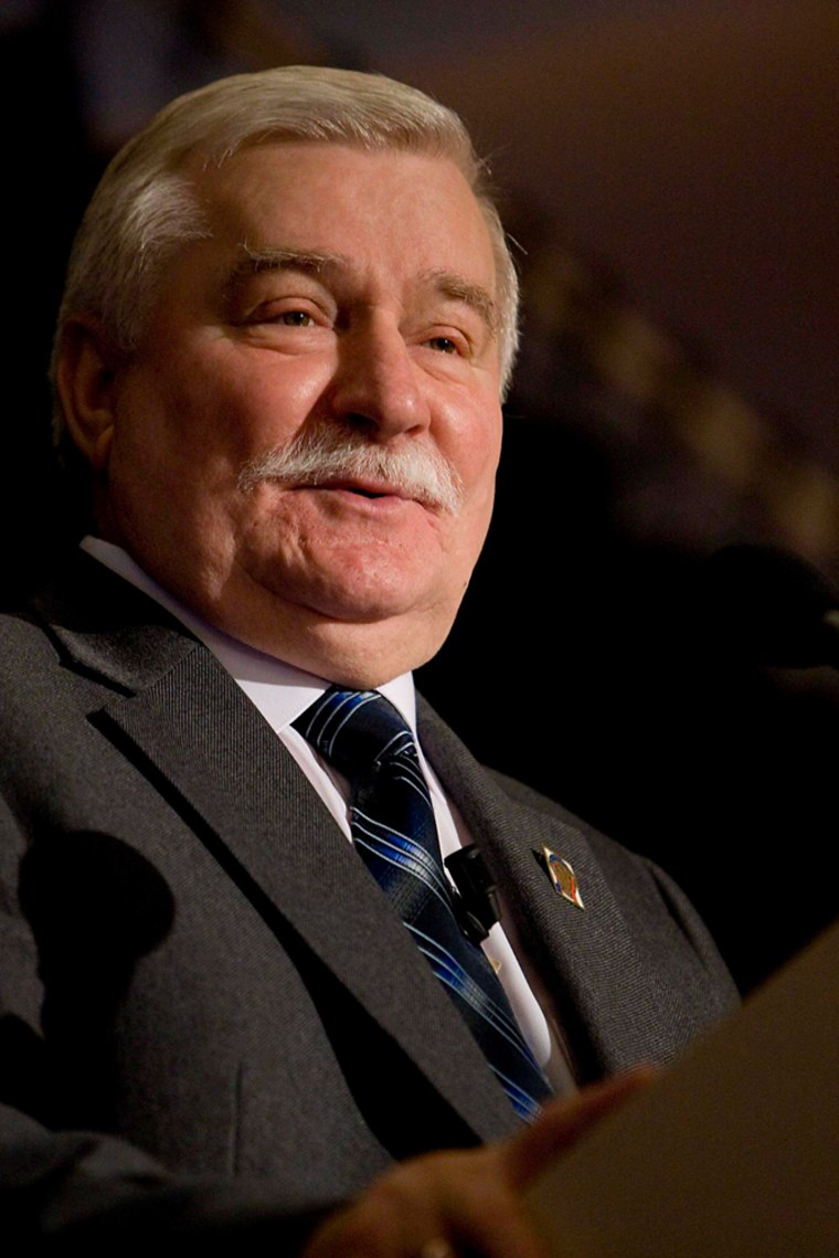 Image: Former Polish President and Peace Nobel Prize Laureate Lech Walesa