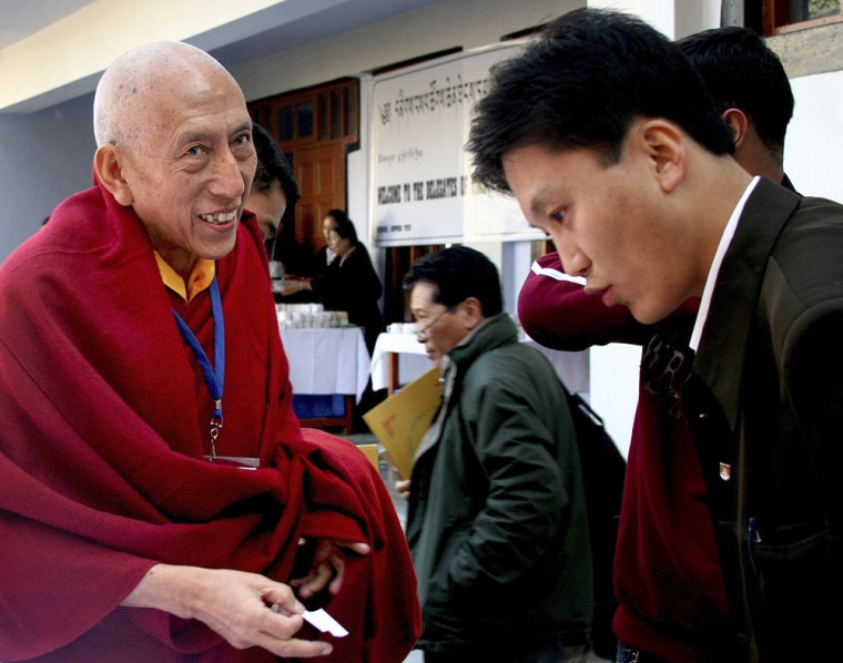 Image: Samdhong Rinpoche, PM of Tibetan government-in-exile
