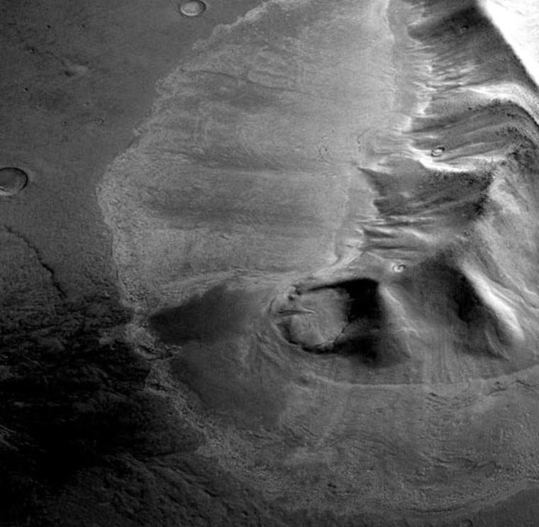 Image: Mountain eastern Hellas region of Mars