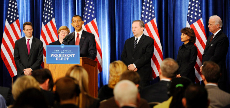 Image: US President elect Barack Obama introduces economic team