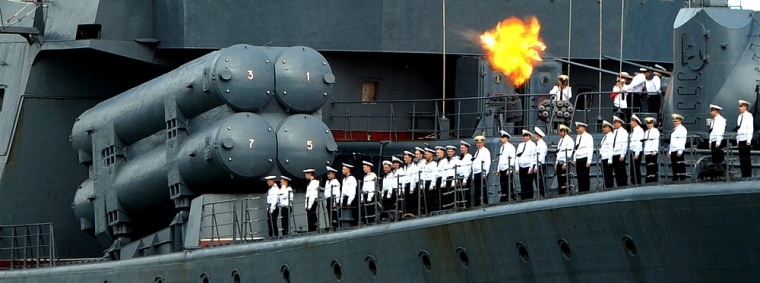 Image: Russian ship arrives at Venezuela