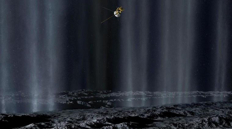 Image: Enceladus flyby
