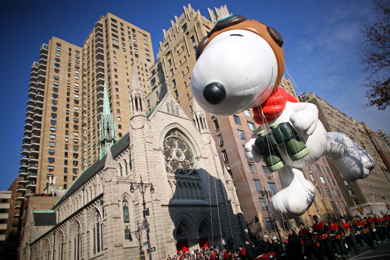Image: Snoopy balloon at the annual Macy's Thanksgiving Day Parade