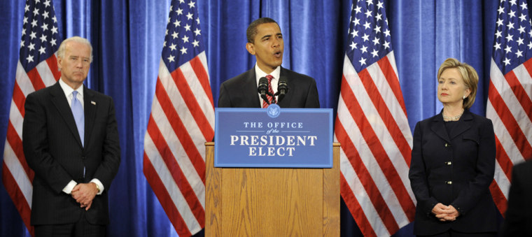 Image: Barack Obama, Joseph Biden, Senator Hillary Clinton