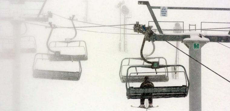 Image: Skiing in Michigan