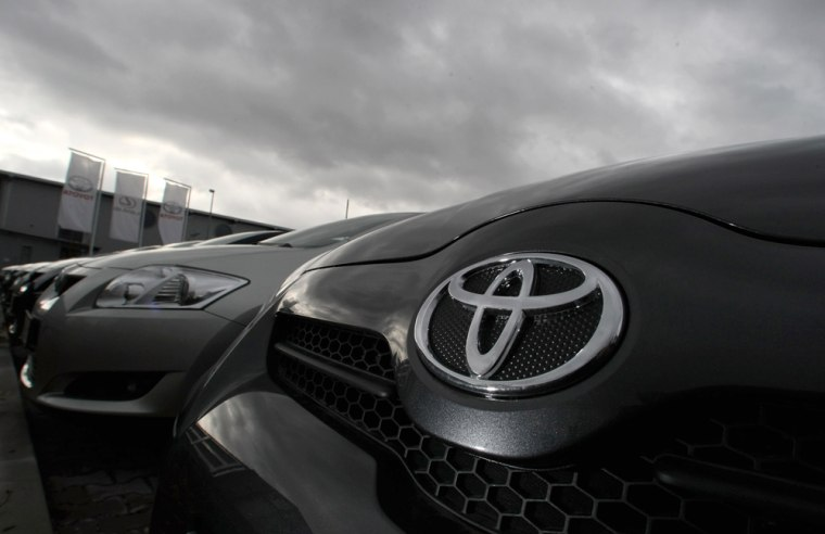 Image: Toyota Auris cars are offered for sale