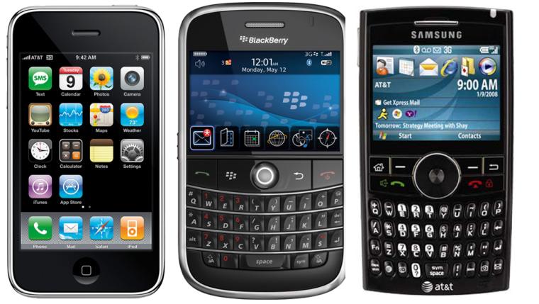 Image: iPhone, BlackBerry and BlackJack II