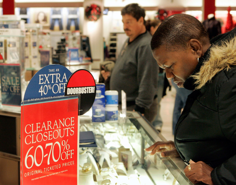 Image: Shoppers look for after-Christmas bargains in Lawrence, N.J.