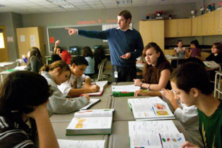 Image: Students in Massachusetts middle school