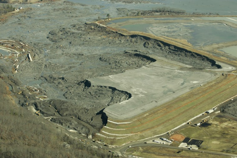Image: damage from Coal Ash slurry spill