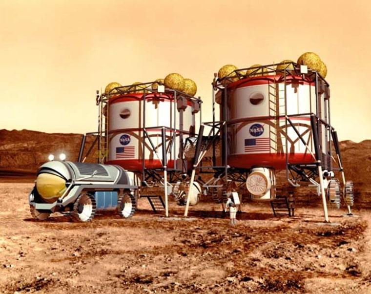 Image: Artist's interpretation of Mars base
