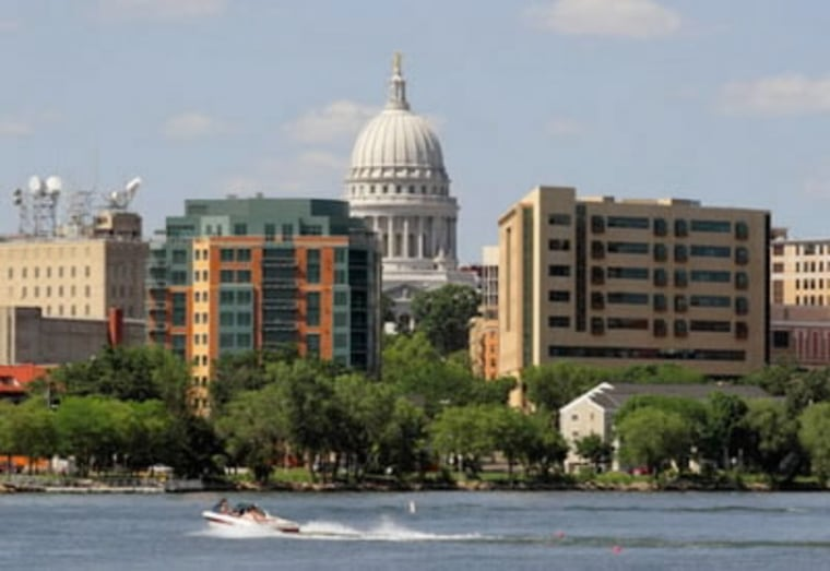 Image: Madison, Wis., has several things working in its favor, one being the University of Wisconsin, a major employer.