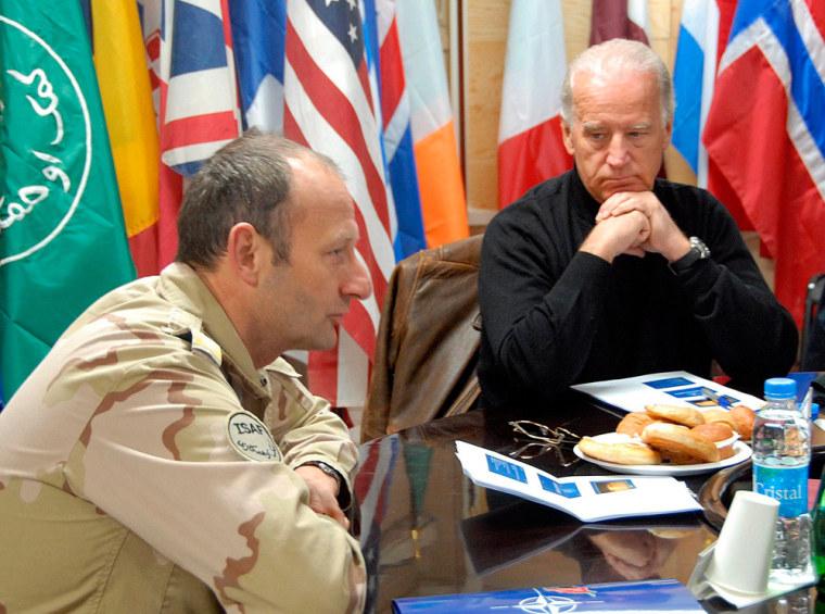 US Vice-President elect Joe Biden visits ISAF troops in Kandahar