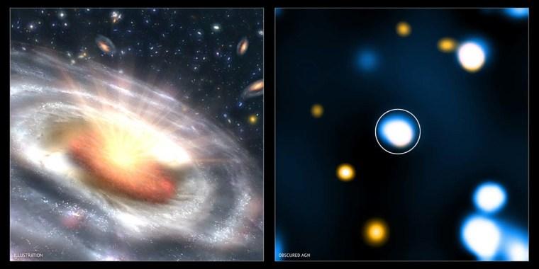 Image: Starving black hole