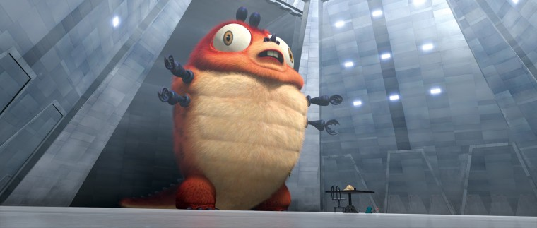 """Image: A scene from Dreamworks' upcoming \""""Monsters vs. Aliens.\"""""""