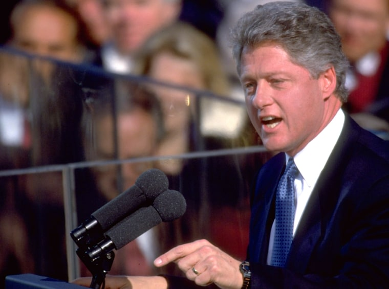 Image: Pres. Bill Clinton delivering Inaugural Day address.
