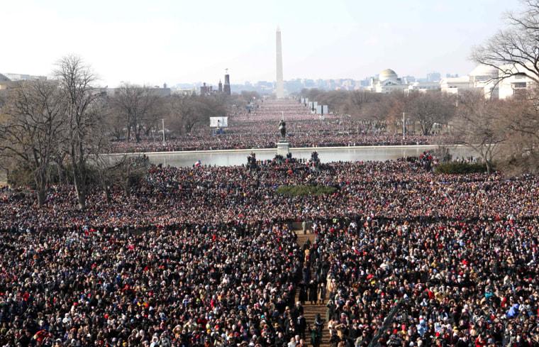Image: inauguration crowd