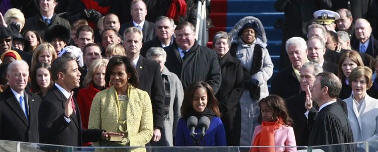 Image: Barack Obama is sworn in