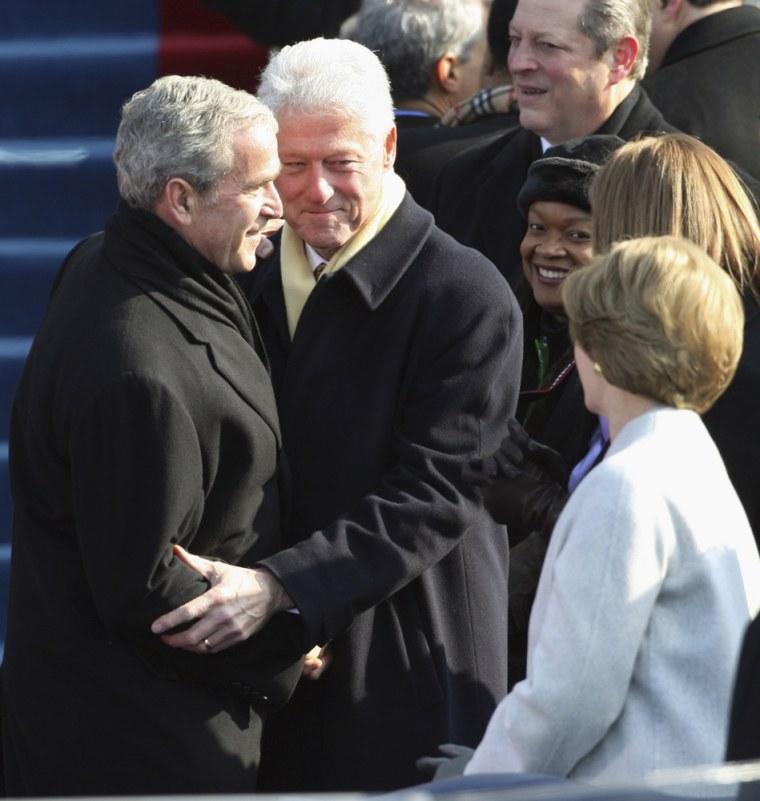 Image: Al Gore, Bill Clinton, George W. Bush, Laura Bush