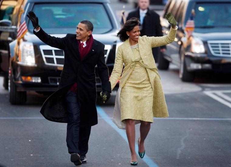 Image: Obamas at the parade