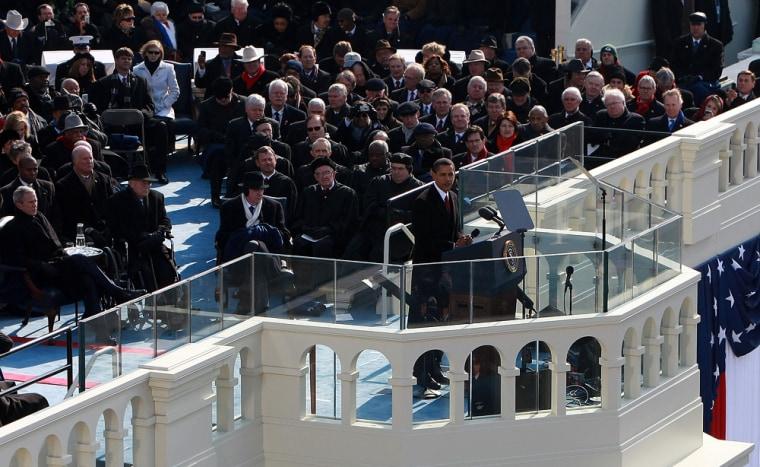 Image: U.S President Barack Obama gives his inauguraladdress