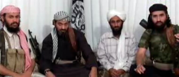 Image: Leaders of al Qaeda in Yemen appear in a video posted on Islamist websites