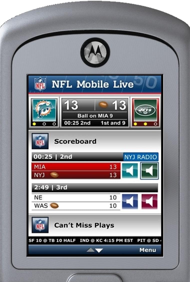 Image: Sprint NFL Mobile Live