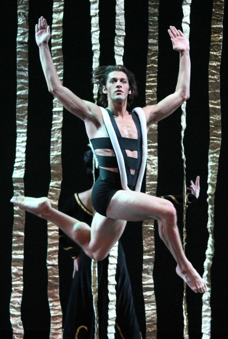 "Image: David Martinez performs in \""Clytemnestra\"""