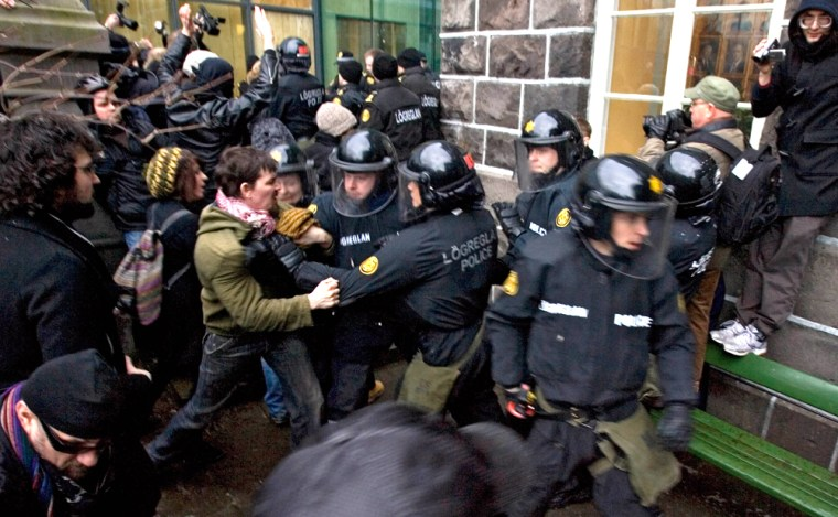 Image: Protesters clash with police